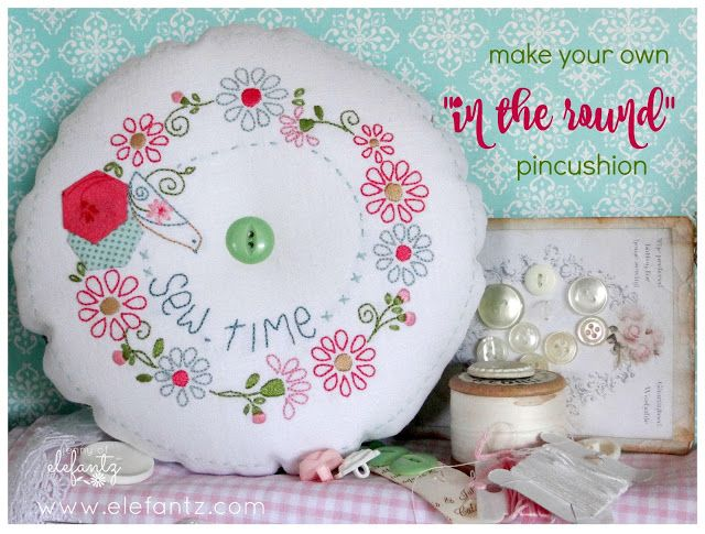 TUTORIAL - Bird in the Round pincushion...