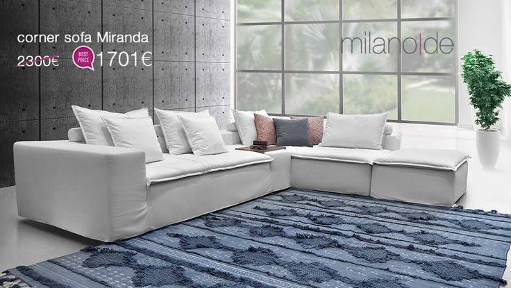 """Αφαιρετικές γραμμές σε ένα ανάλαφρο & """"φιλόξενο"""" μοτίβο, για τον νέο #καναπέ Miranda της Milanode. Ευελιξία & άνεση, πάντα σε συνδυασμό με την υψηλή #ποιότητα κατασκευής & υλικών.   https://www.milanode.gr/product/gr/2743/goniakos_kanapes_miranda.html"""