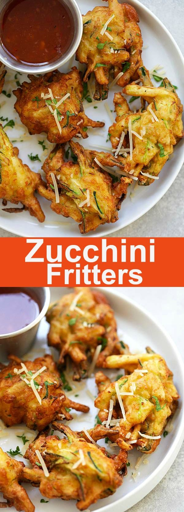 Zucchini Fritters - the easiest and most delicious zucchini fritters recipe you'll find online. Crispy and loaded with zucchini, so good   rasamalaysia.com