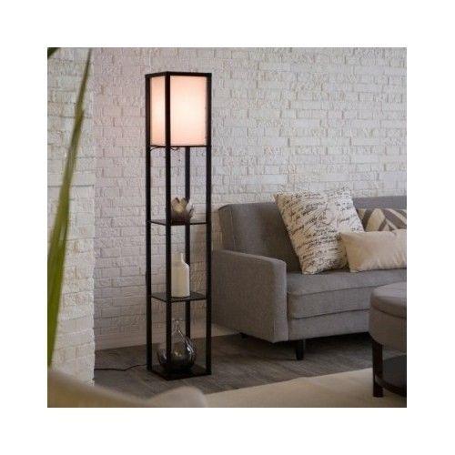 Floor Lamp Lighting Shelves Storage Display Shade Bedroom