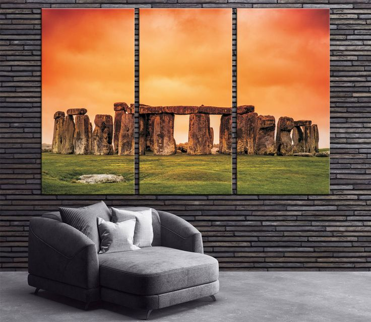 Stonehenge Against Fiery Orange Sunset Sky Large Canvas Print Ready to Hang.Wall Art Multi Panel Stonehenge view Multi-Sized Canvas print by CanvasPrintStudio on Etsy