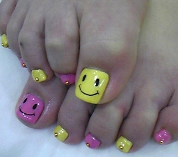 Nails, toes, happy, uñas de pies