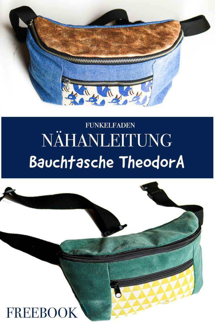 Freebook -Nähanleitung für Bauchtasche TheodorA von Funkelfaden