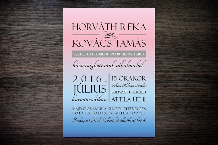 Modern Wedding Invitation, Gradient Wedding Invitation