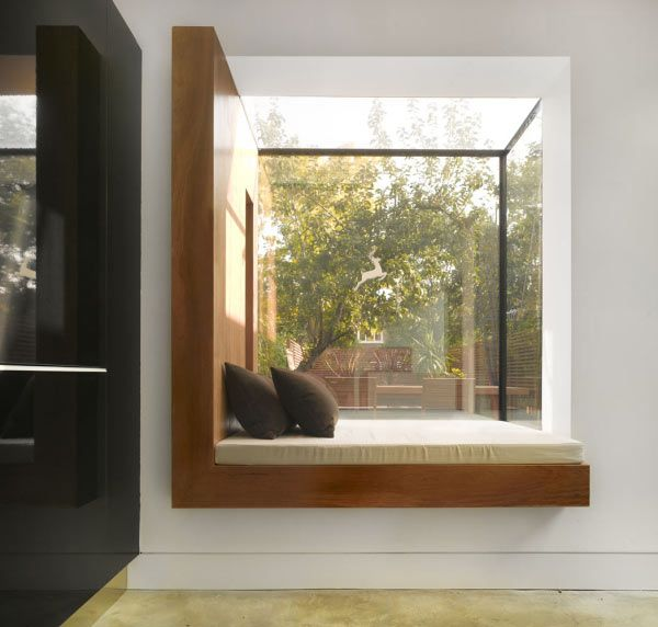 I really want/need a reading nook!  5 Great Small-Space Reading Nooks @designmilk
