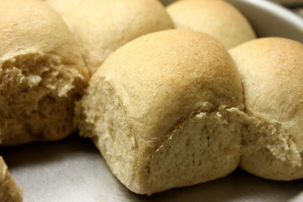 soft whole wheat dinner rolls-- just add gluten and they're fluffy ...