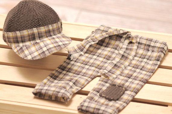Calças menino recém-nascido, boné de beisebol, chapéu Menino recém-nascido menino recém-nascido, menino recém-nascido Baby Pant Set,