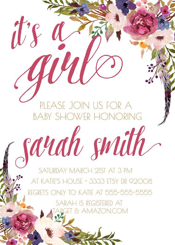 154 best images about bohemian x baby shower on pinterest, Baby shower invitations
