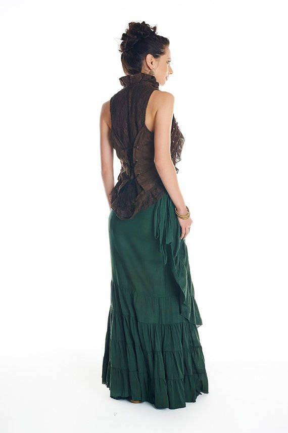 Jupe tribale, longue jupe gitane, jupe de Flamenco, jupe de fée, elfique jupe, jupe de danse du ventre, Burning man, jupe, jupe Bohème, Goa Vous allez adorer danser et en tournant avec cette belle jupe, Gitane espagnole un look parfait pour n'importe quel jour ou nuit Cette jupe a beaucoup de tissu, il fera n'importe quelle taille de XS à XXL comme vous pouvez l'enrouler autour d'autant que vous avez besoin • ceux que la taille s'adapte à tous les • Cette liste est pour la jupe de couleur…