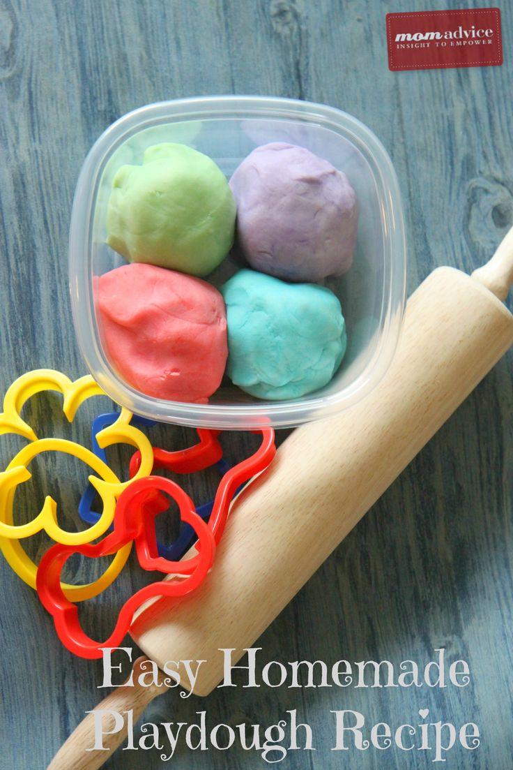 Mix up a batch of homemade playdough.