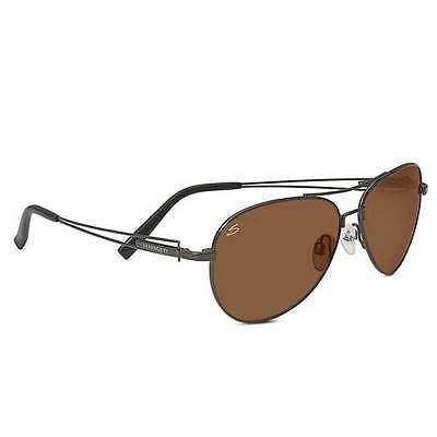 Serengeti 7885 Brando Non-Polarized Lens Shiny Dark Frame Pilot Sunglasses