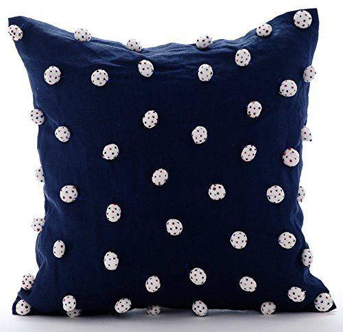 Handmade Navy Blue Throw Pillow Covers, Modern Polka Dot ... https://www.amazon.com/dp/B0164644VY/ref=cm_sw_r_pi_dp_x_znmbyb33SE5Q4