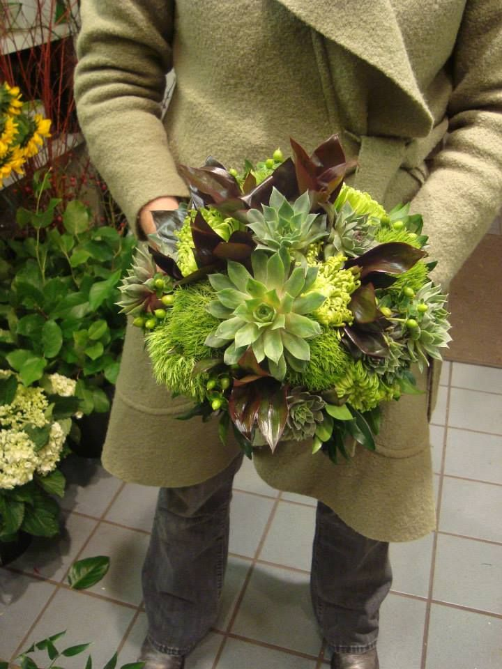Bouquet with Succulents from Poppies  #succulents #dianthus #spreadjoy @Poppies Plant of Joy facebook.com/poppiestoronto