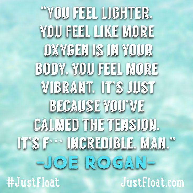 Joe Rogan on float therapy. Floating, float tanks, sensory deprivation, float therapy, Los Angeles float center, relaxation, yoga, yogi.