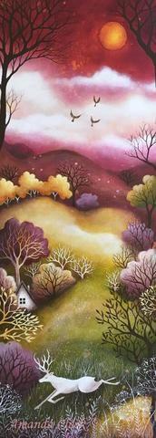 Meadow and Sky. Original painting by Amanda Clark