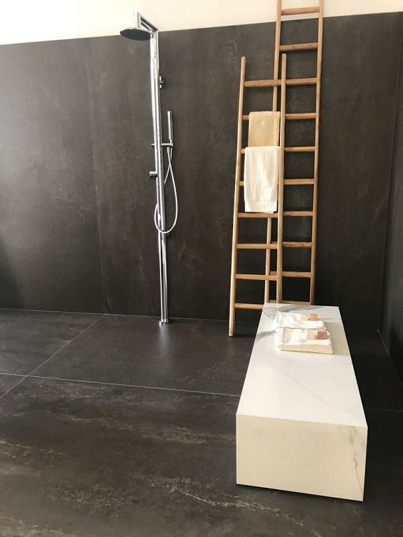 Mega-size porcelain slabs. These tiles are just getting bigger and better! As seen at Cersaie 2017.