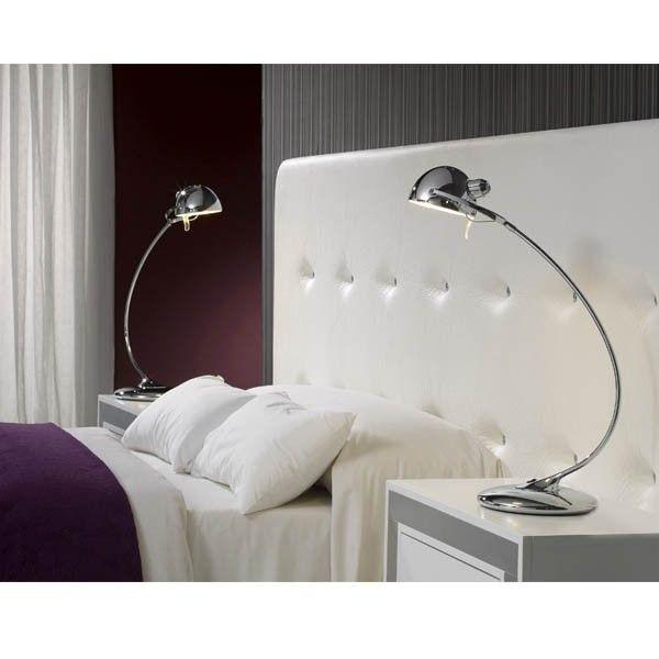 moderna lmpara para mesilla es orientable perfecta para dormitorio de estilo moderno