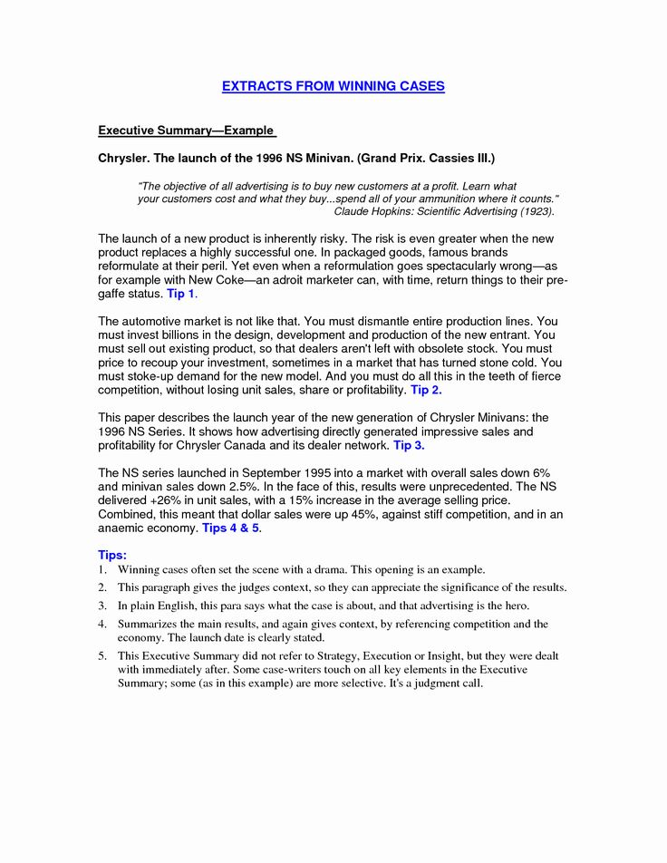 Business Summary Example New How to Write A Dissertation