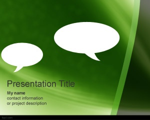 Free Gossip PowerPoint Template for Marketing, communication and viral campaigns