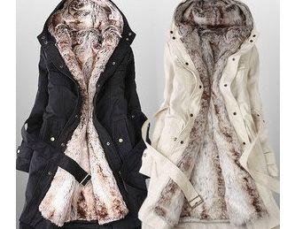 Faux Fur Lined Coat...omgosh I want one!