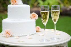 Bolo com champanhe - uma recepção do casamento mais econômica e elegante - Casamento Marcado