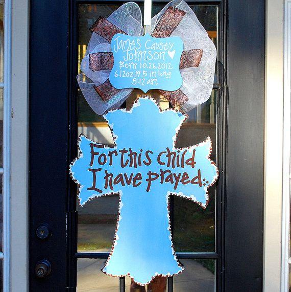 Baby Hospital Door Hanger Baby Door Decoration by LooLeighsCharm, $50.00 MY FAVORITE BY FAR :)