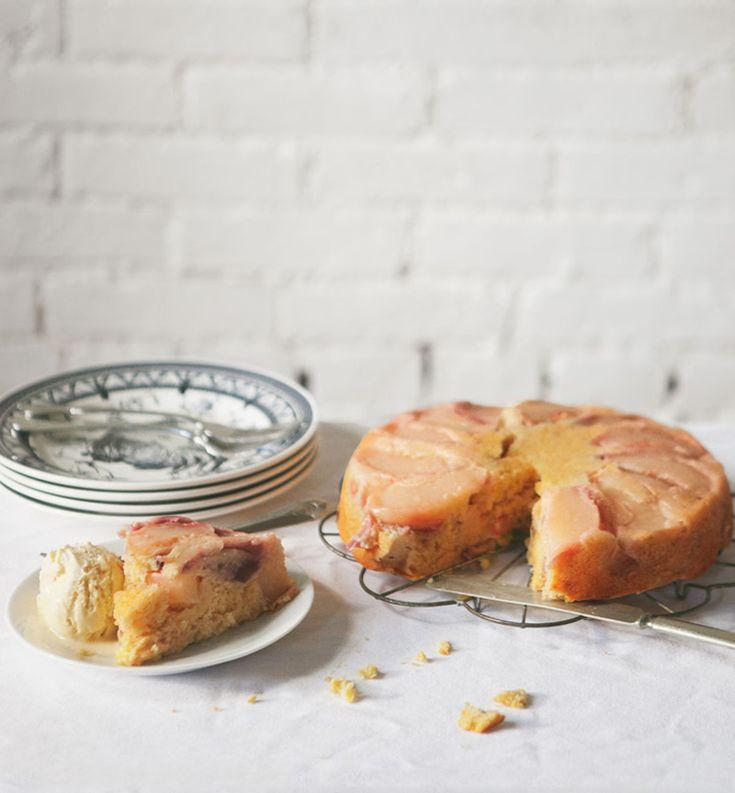 Peach Cornbread Cake