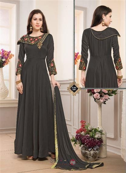 31e78fb600 Designer Muslin Silk Hand Work Wedding Wear Floor Touch Readymade Anarkali  Suits Collection 8852 #anarkali #shopping #clothing
