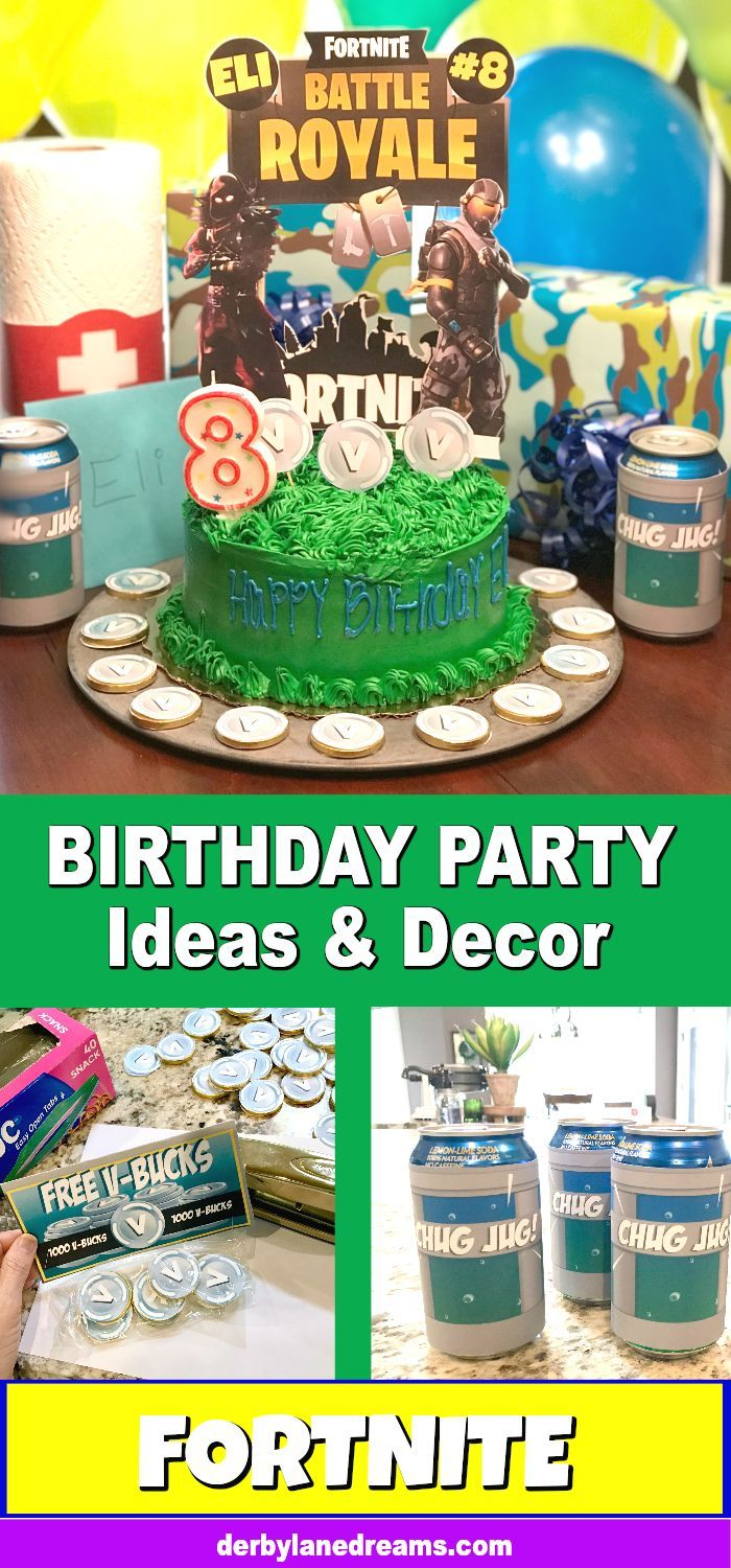 Easy DIY Fortnite Birthday Party Ideas For Boys And Girls Teens Gamers Etc Free Printables To Use Your Cheap Making
