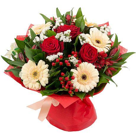 Фото: Букет с герберами и розами - Букет «Яркое настроение»