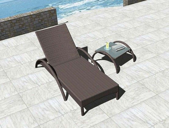 BICOL Chaise Lounge and BICOL Side Table