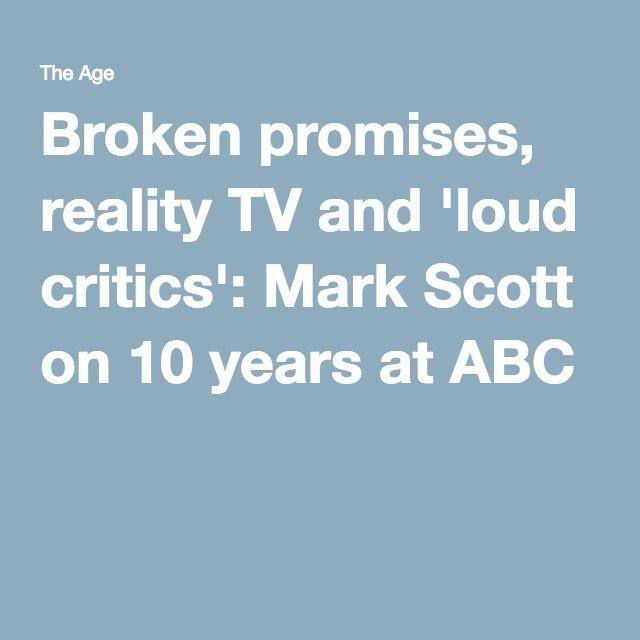 Broken promises, reality TV and 'loud critics': Mark Scott on 10 years at ABC