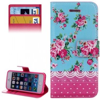 Stylish Peony Pattern Case for iPhone 5 & 5S