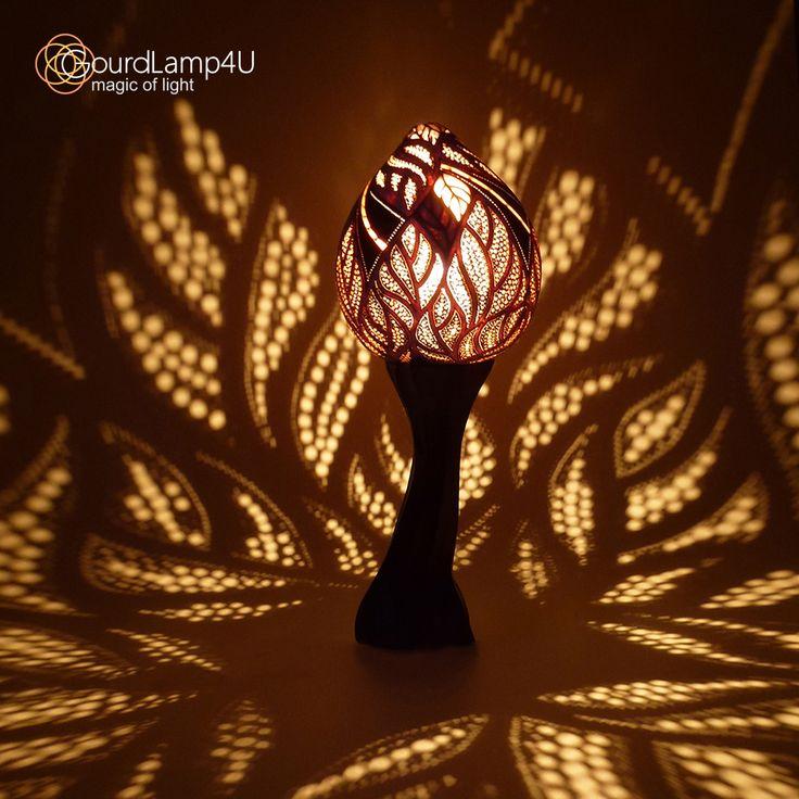 Autumn Magic Desing Calabash Lamp by GourdLamp4U