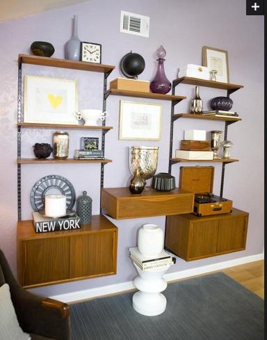 Emily Henderson-- ideas for styling shelves