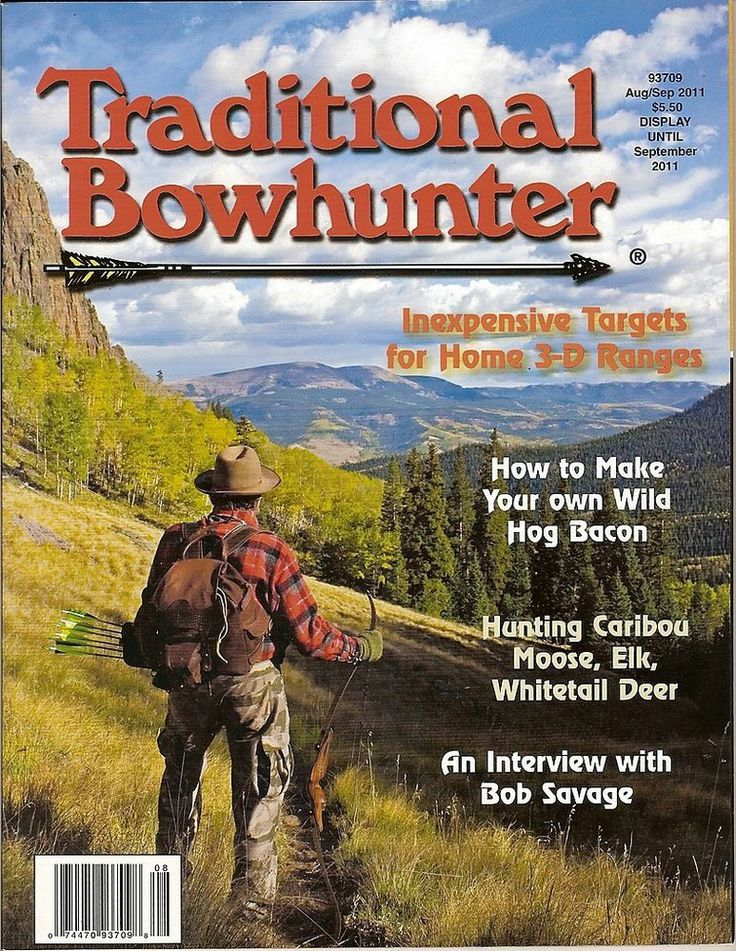 Traditional Bowhunter Magazine,Bob Savage,Hog Bacon,Hunting,Elk,Moose, 2011~NEW