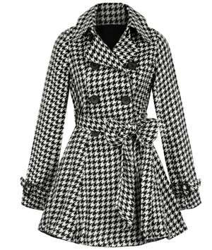 Houndstooth Trench Coat.