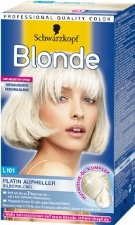 Schwarzkopf Blonde Zilverblond licht je haar tot wel 7 tinten op. Je krijgt een schitterend blonde tint met metallic glans!  Het haarmasker versterkt het haar na het blonderen en geeft een (anti-geel) stralende glans.