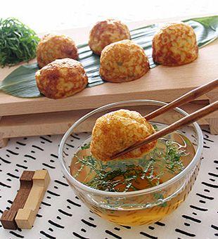 タコのおしゃれなレシピ☆さっぱり食べられる♡冷製明石焼 大葉風味