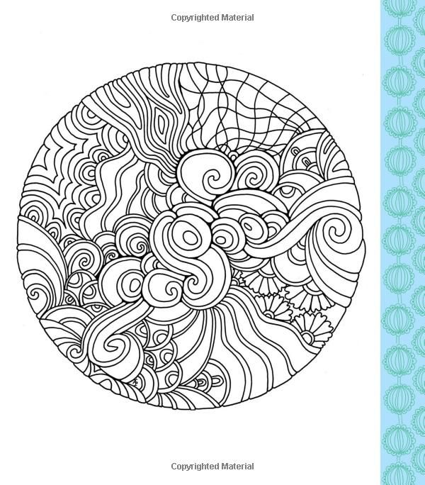 Round Asymmetrical Coloring Page