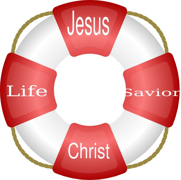 Jesus Christ Life Saver Clip Art