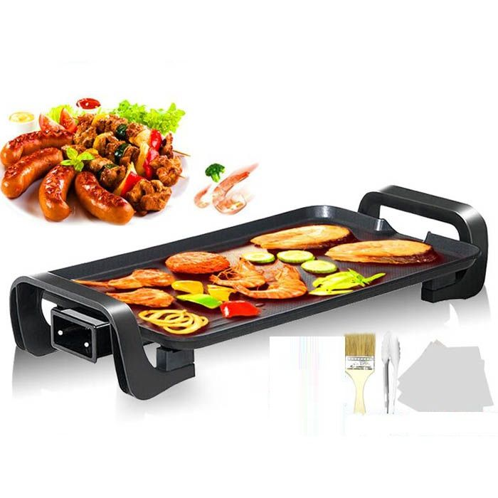 ng BBQ outdoor fish household iron disc smokeless barbecue stove nonstick grill oven electric hotplate FREE SHIPPING