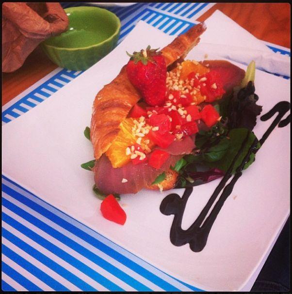 smoked fish croissant