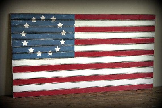 Pottery Barn Knockoff Beadboard Flag... 48 x 27 by RedHenHome