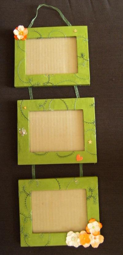 1000 id es sur le th me artisanat en carton sur pinterest stockage pour b b toile de jute et - Fabriquer cadre photo carton ...
