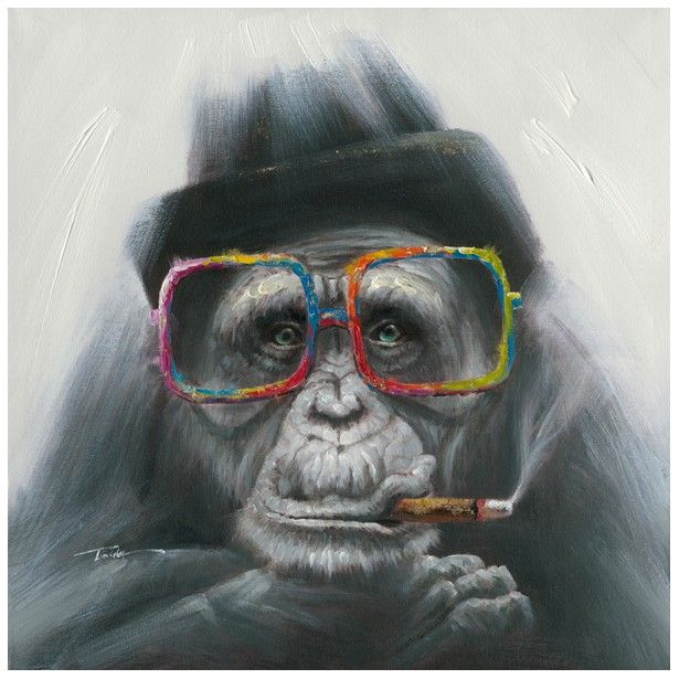 Monkey Painting POP ART 70×70 Acrylic painting