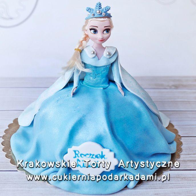 101. Tort z lalką Elzą z Kariny Lodu. Doll cake Elza from Frozen.