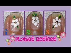 DECORACIÓN de UÑAS FLORES PARA PIES♥ - FLOWERS NAIL ART♥ - CÓMO PINTAR FLORES - NLC - YouTube