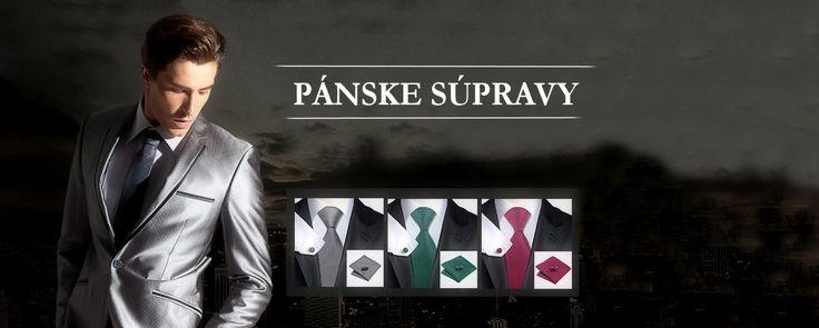 Luxusné kravaty a manžetové gombíky ako elegantné pánske súpravy. Súprava obsahuje kravatu, manžetové gombíky a vreckovku, ktoré sú zabalené v luxusnej darčekovej krabici.  Súpravy vám budú slúžiť pri každodennom nosení alebo pri sviatočnej príležitosti.   Dodajte svojmu oblečeniu originalitu a štýl.http://www.luxusne-doplnky.eu/
