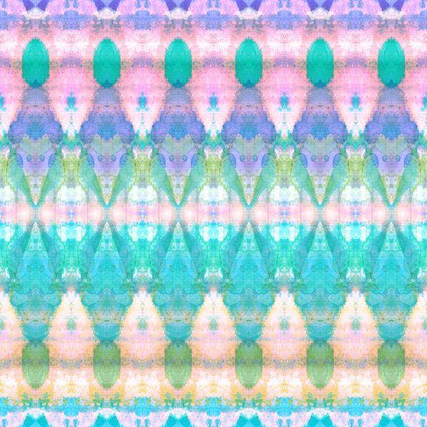 Tribal Diamonds Watercolour Pastel Art Print by Amy Sia | Society6